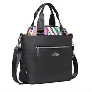 NWT KIPLING black tote two in one.